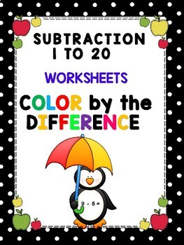 Color by the Number - Subtraction Homework
