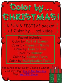 Color by...Christmas! 6 Valuable Skill Activity Pages