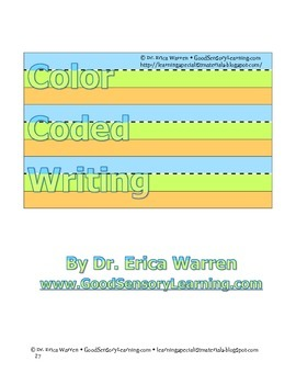 Handwriting: Color-coded Print