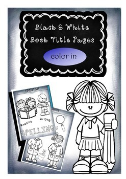 Color-in Book Title Pages