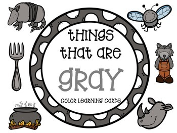 Color learning cards - GRAY