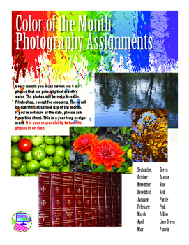 Color of the Month Photography Assignments