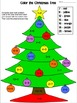 Color the Christmas Tree - Addition Sums to 20
