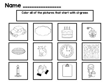Color the L Blend Word Work