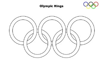 Color the Olympic Rings Sheet
