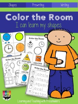 Color the Room I can learn my shapes