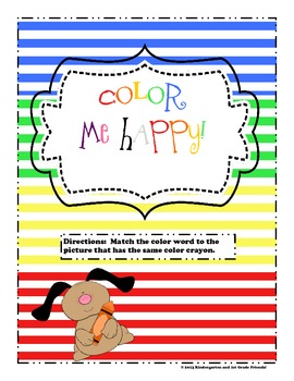 "Color words ""Color Me Happy""- color word matching game!"