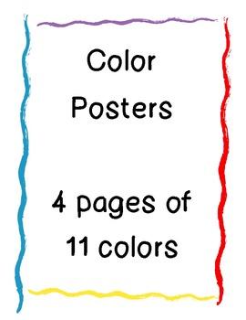 Color/Crayon Posters