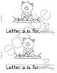 Colorable Alphabet Rebus Reader - Lower Case