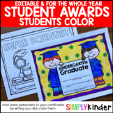 End of the Year Awards - Colorable