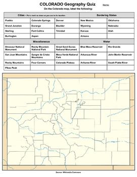 Colorado Geography Quiz