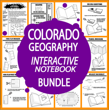 Colorado Geography Bundle of 8 COMPLETE Lessons