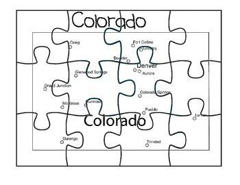 Colorado Map Puzzle
