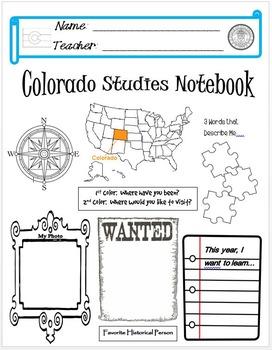 Colorado Notebook Cover