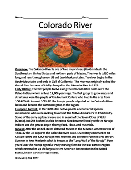 Colorado River - lesson full history facts information que