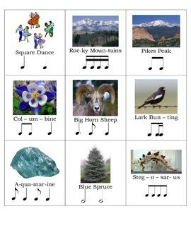 Colorado State Emblems Composition Cards