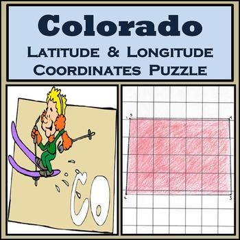 Colorado State Latitude and Longitude Coordinates Puzzle -
