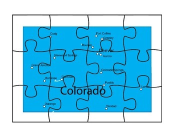 Colorado State Map Activity