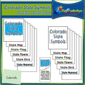 Colorado State Symbols Interactive Foldable Booklets