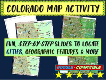 Colorado (state) Map Activity- fun, engaging, follow-along