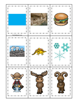Colorado themed Memory Matching and Word Matching preschoo