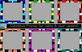 Colorblock Frames Set {Personal & Commercial Use}