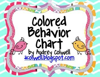 Chevron Color Behavior Chart - Birds