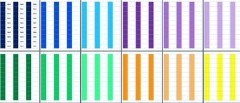 Colored Book Spine Labels for Classroom Library *EDITABLE*