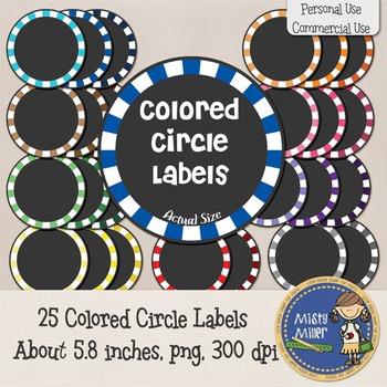 Labels - Colored Circles