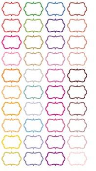 Colored Frames - White Inside of Frame