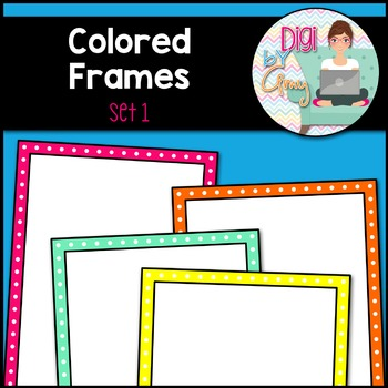 Colored Frames and Borders clipart - Set 1