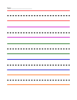 Colored Handwriting Paper