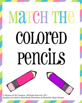 Colored Pencil Matching Game
