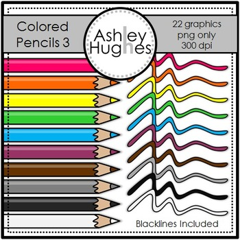 Colored Pencils 3 {Graphics for Commercial Use}