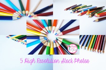 Colored Pencils Styled Stock Photos for Commercial & Personal Use