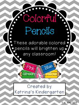 Colored Pencils with Color Words