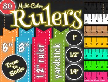 Colored Rulers Clip Art Math Tools