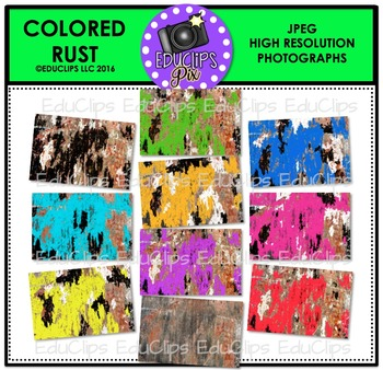 Colored Rust Photo Set {Educlips}