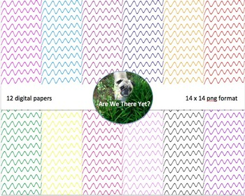 Colored Thin Wave Digital Paper