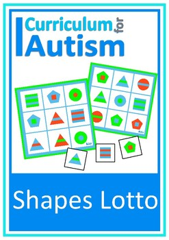 Color & Shapes Lotto Game, Autism, Special Education, Turn