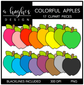 Colorful Apples 1 {Graphics for Commercial Use}