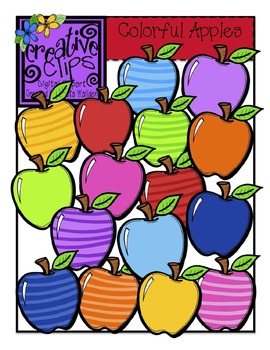 Colorful Apples {Creative Clips Digital Clipart}