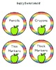 Colorful Apples (with rainbow and chevron too) Room Decor