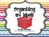 Colorful Art Supplies Labels