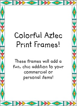 Colorful Aztec Frames