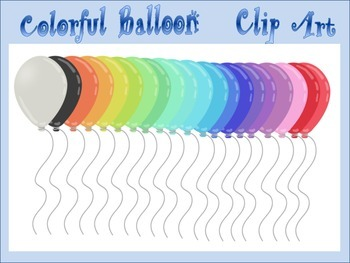 Colorful Balloon Clip Art For Use With Any Subject