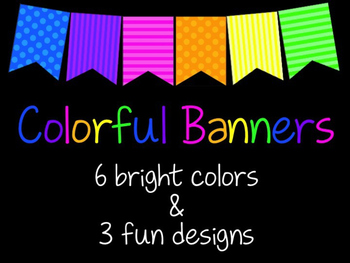 Colorful Banners - 6 Colors & 3 Designs