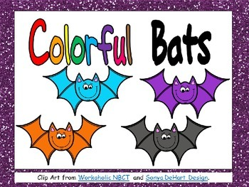 Colorful Bats Shared Reading PowerPoint- Kindergarten- Hal