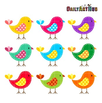 Colorful Birds Clip Art - Great for Art Class Projects!