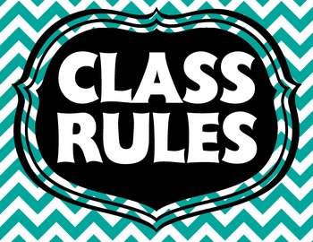 Colorful Bright Chevron Class Rules